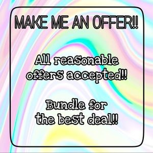 Make offers! All reasonable offers accepted!! 💃🏻